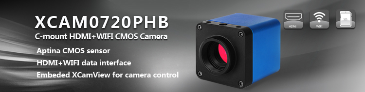 XCAM0720PHB C-mount HDMI  CMOS Camera